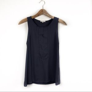 Pleione Dark Gray Sleeveless Top XSmall